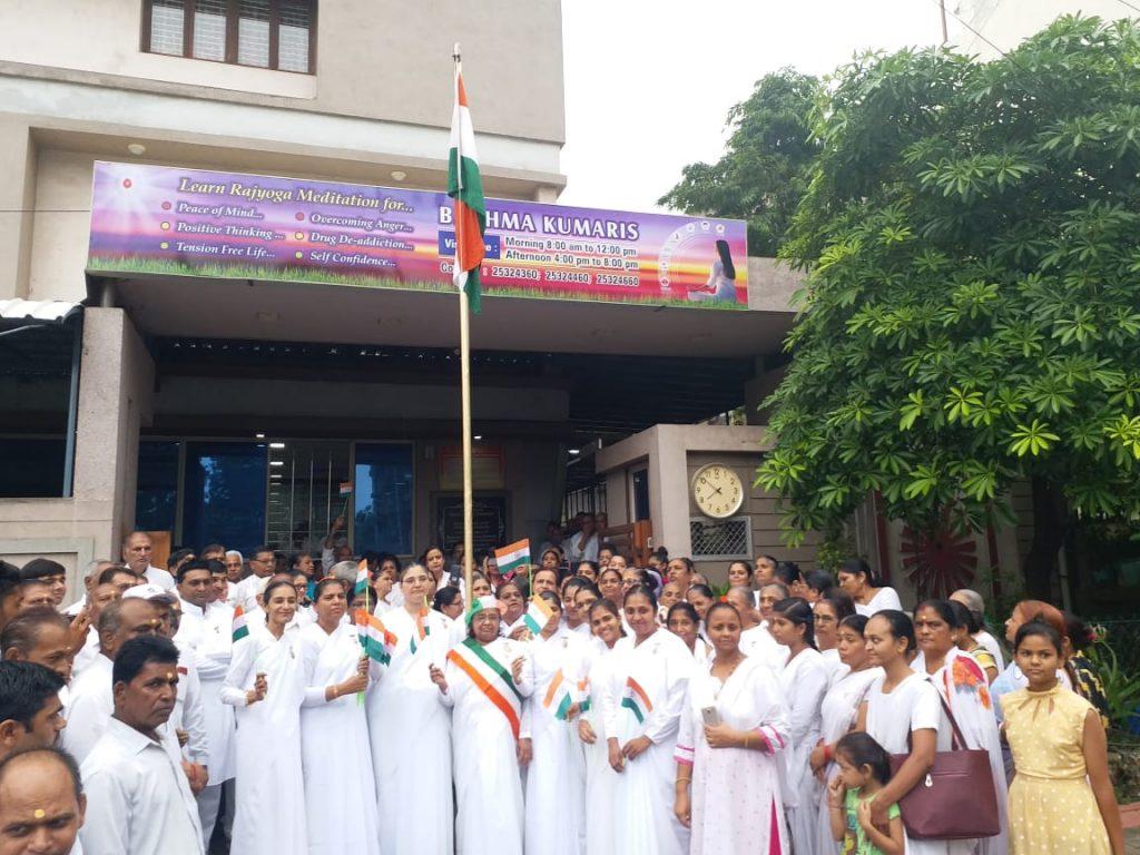 ब्रह्माकुमारिज़ सुखशांति भवन, अहमदाबाद–गुजरात सेवाकेंद्र में ७३वे स्वतंत्रता दिन का सेलिब्रेशन